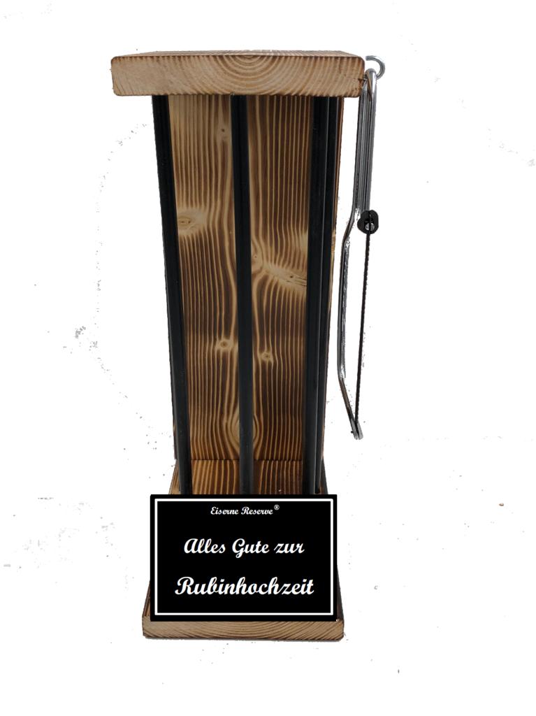Alles Gute zur Rubinhochzeit Black Edition Eiserne Reserve ® Größe L zum SELBST BEFÜLLEN