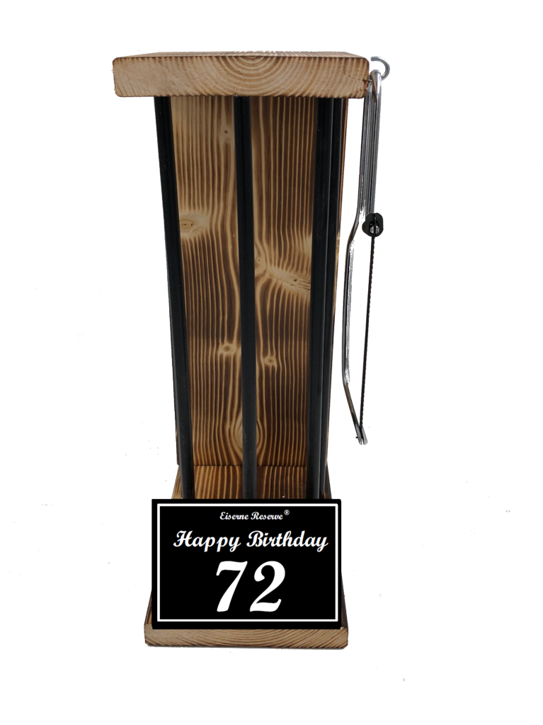 Happy Birthday 72 Black Edition Eiserne Reserve ® Größe L zum SELBST BEFÜLLEN