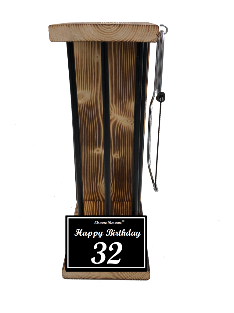 Happy Birthday 32 Black Edition Eiserne Reserve ® Größe L zum SELBST BEFÜLLEN
