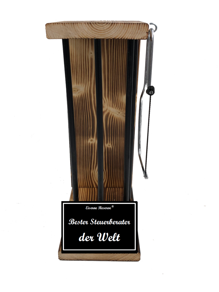 Bester Steuerberater der Welt Black Edition Eiserne Reserve ® Größe L zum SELBST BEFÜLLEN
