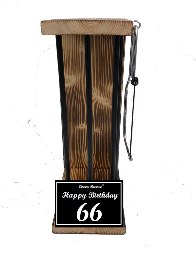 Happy Birthday 66 Black Edition Eiserne Reserve ® Größe L zum SELBST BEFÜLLEN