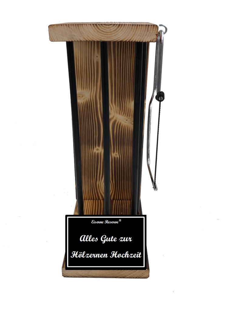 Alles Gute zur Hölzernen Hochzeit Black Edition Eiserne Reserve ® Größe L zum SELBST BEFÜLLEN