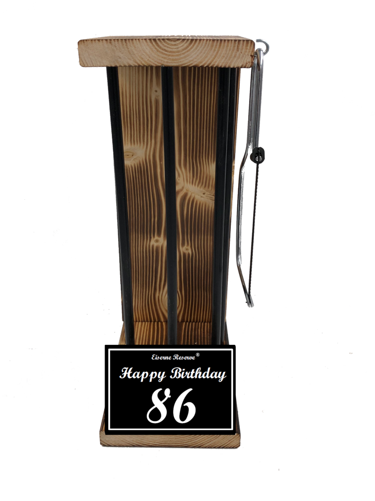 Happy Birthday 86 Black Edition Eiserne Reserve ® Größe L zum SELBST BEFÜLLEN