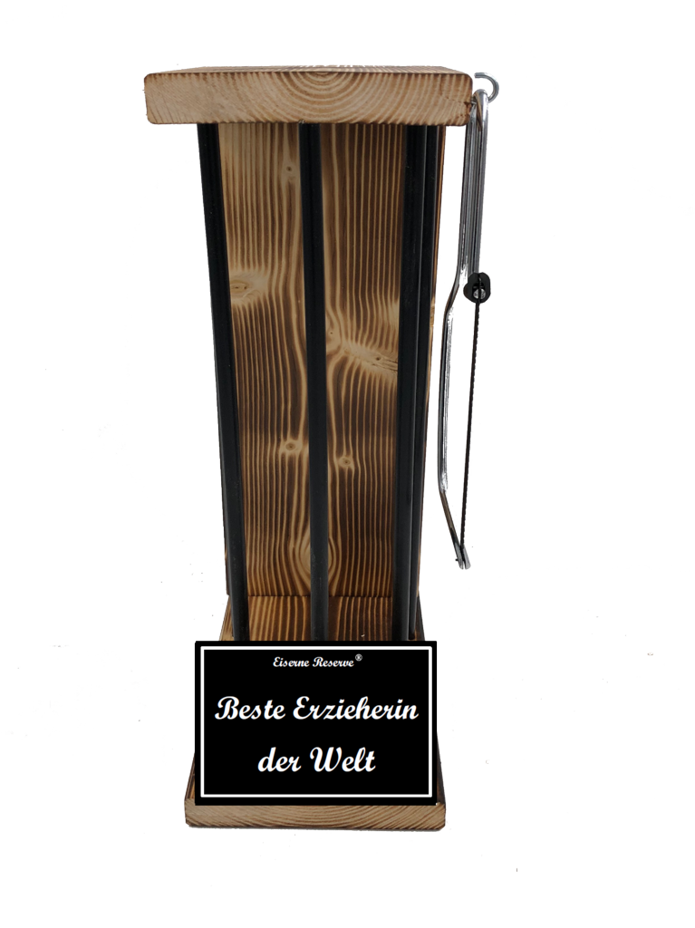 Beste Erzieherin der Welt Black Edition Eiserne Reserve ® Größe L zum SELBST BEFÜLLEN