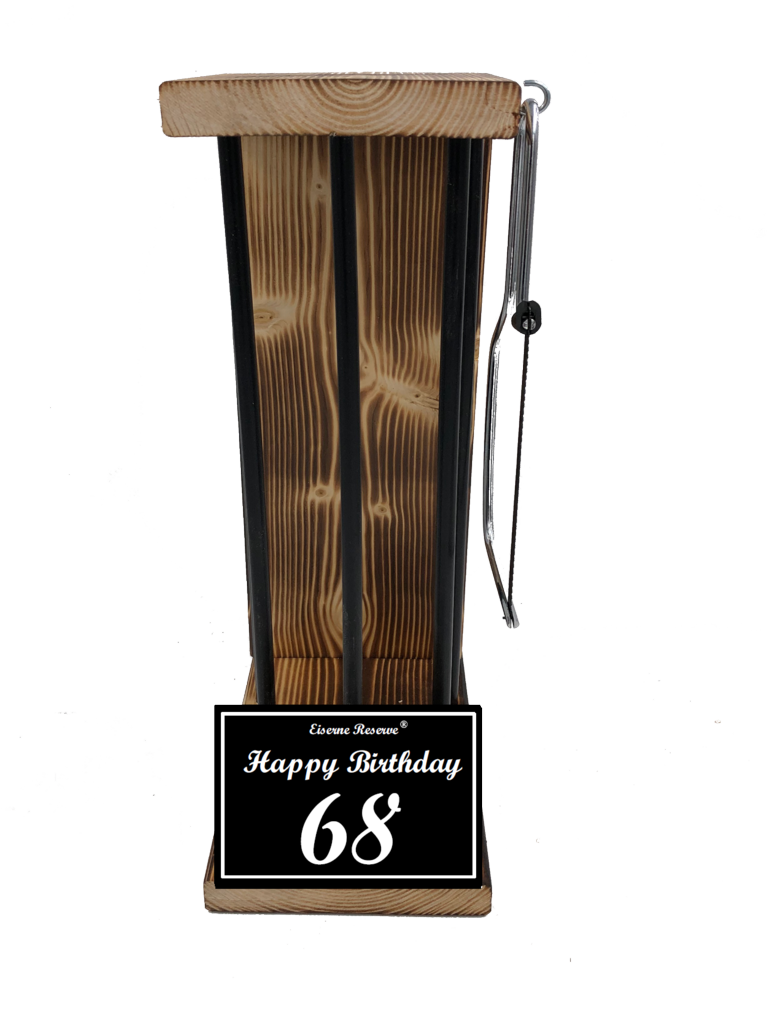 Happy Birthday 68 Black Edition Eiserne Reserve ® Größe L zum SELBST BEFÜLLEN