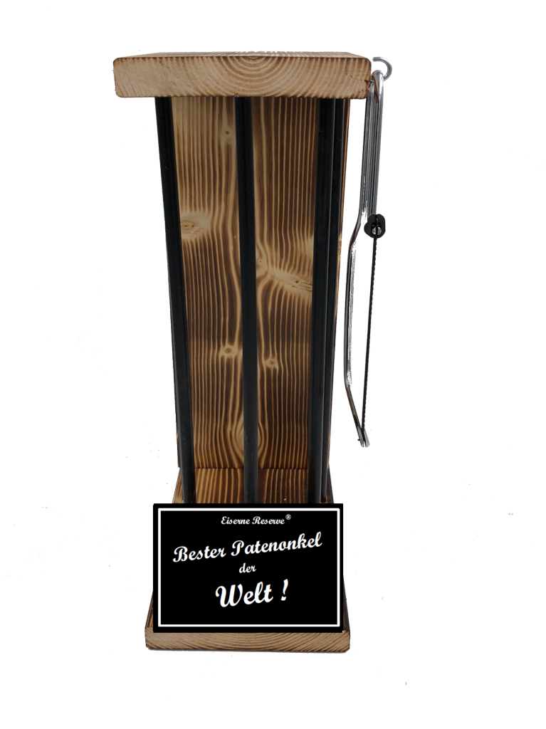Bester Patenonkel der Welt Black Edition Eiserne Reserve ® Größe L zum SELBST BEFÜLLEN
