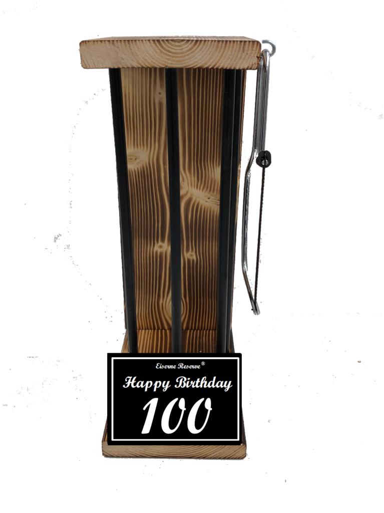 Happy Birthday 100 Black Edition Eiserne Reserve ® Größe L zum SELBST BEFÜLLEN