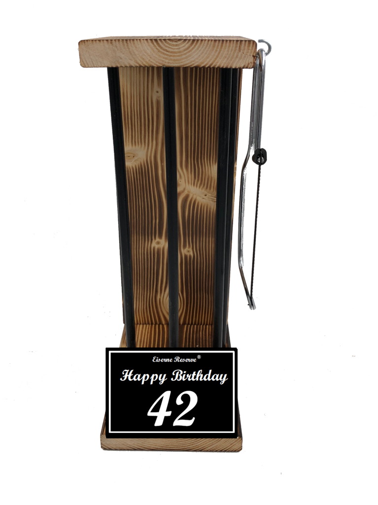 Happy Birthday 42 Black Edition Eiserne Reserve ® Größe L zum SELBST BEFÜLLEN