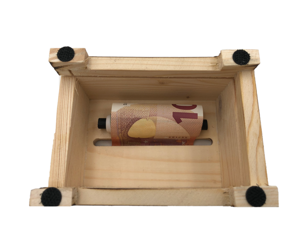 Alles Gute zur Rubinhochzeit  - Eiserne Reserve ® Geldbox - Geldgeschenk Schatztruhe