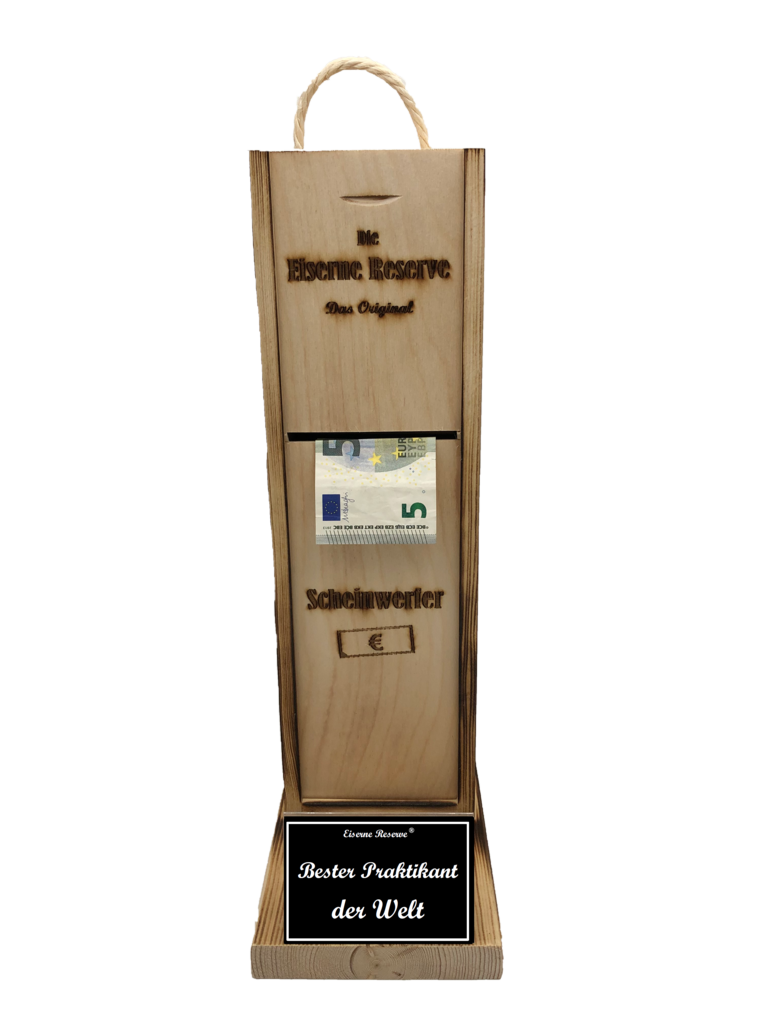 Bester Praktikant der Welt Scheinwerfer - Geldautomat - Geldgeschenk