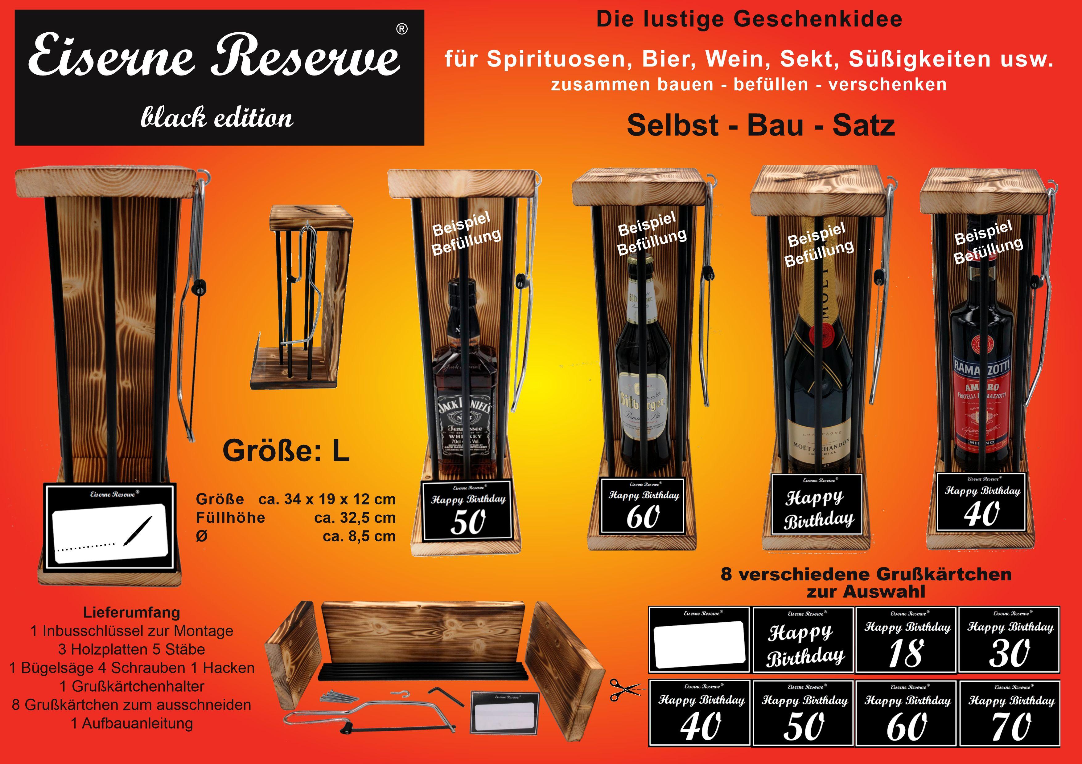 Eiserne Reserve ® Black Edition - Größe L - Selbst-Bau-Satz - DIY