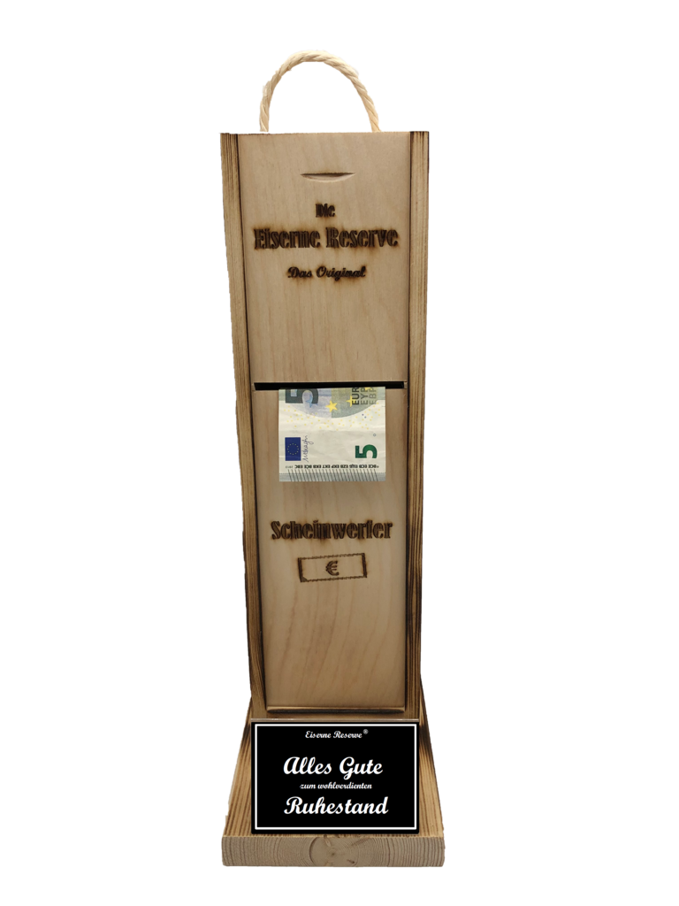Alles Gute zum wohlverdienten Ruhestand Scheinwerfer - Geldautomat - Geldgeschenk