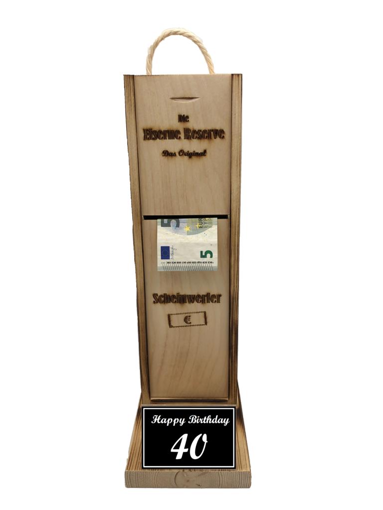 Happy Birthday 40 Scheinwerfer - Geldautomat - Geldgeschenk