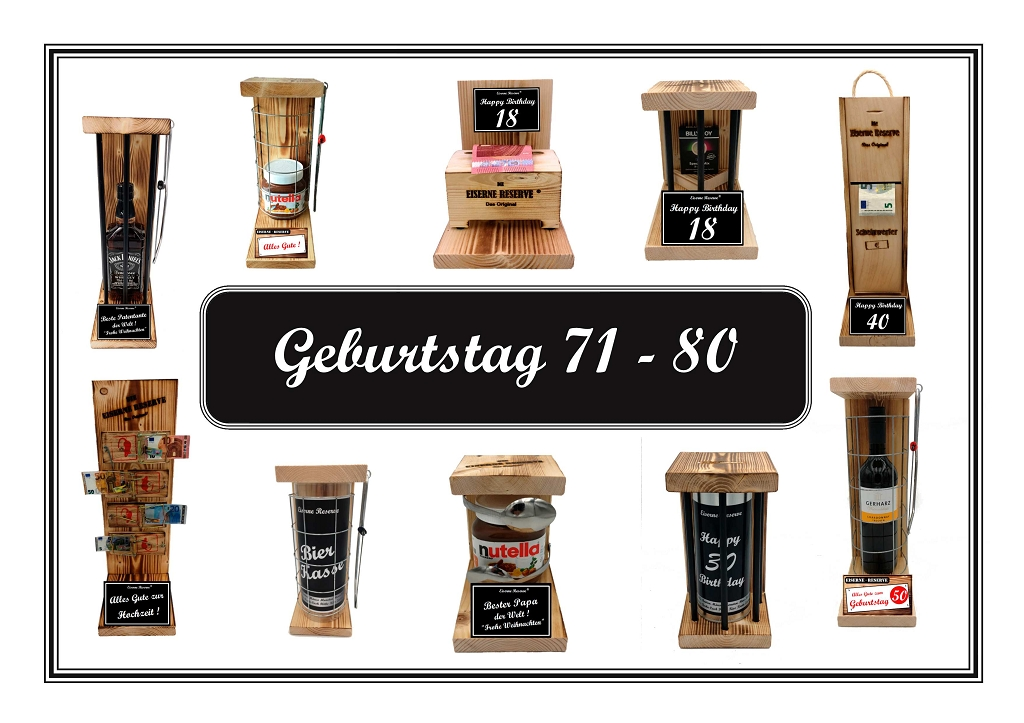 Geburtstag 71 - 80