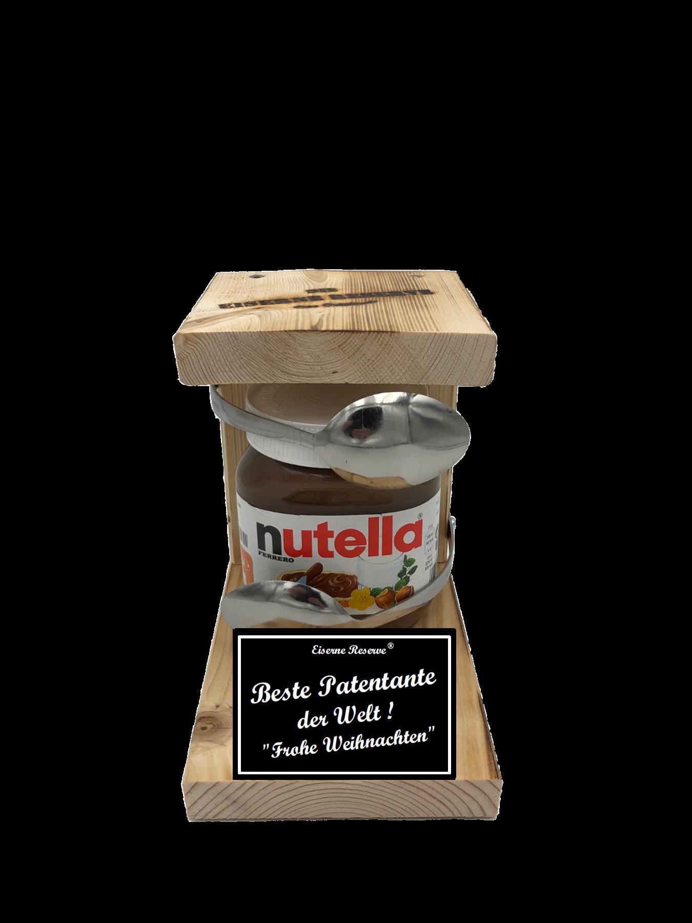 Beste Patentante der Welt Frohe Weihnachten Löffel Nutella Geschenk - Die Nutella Geschenkidee