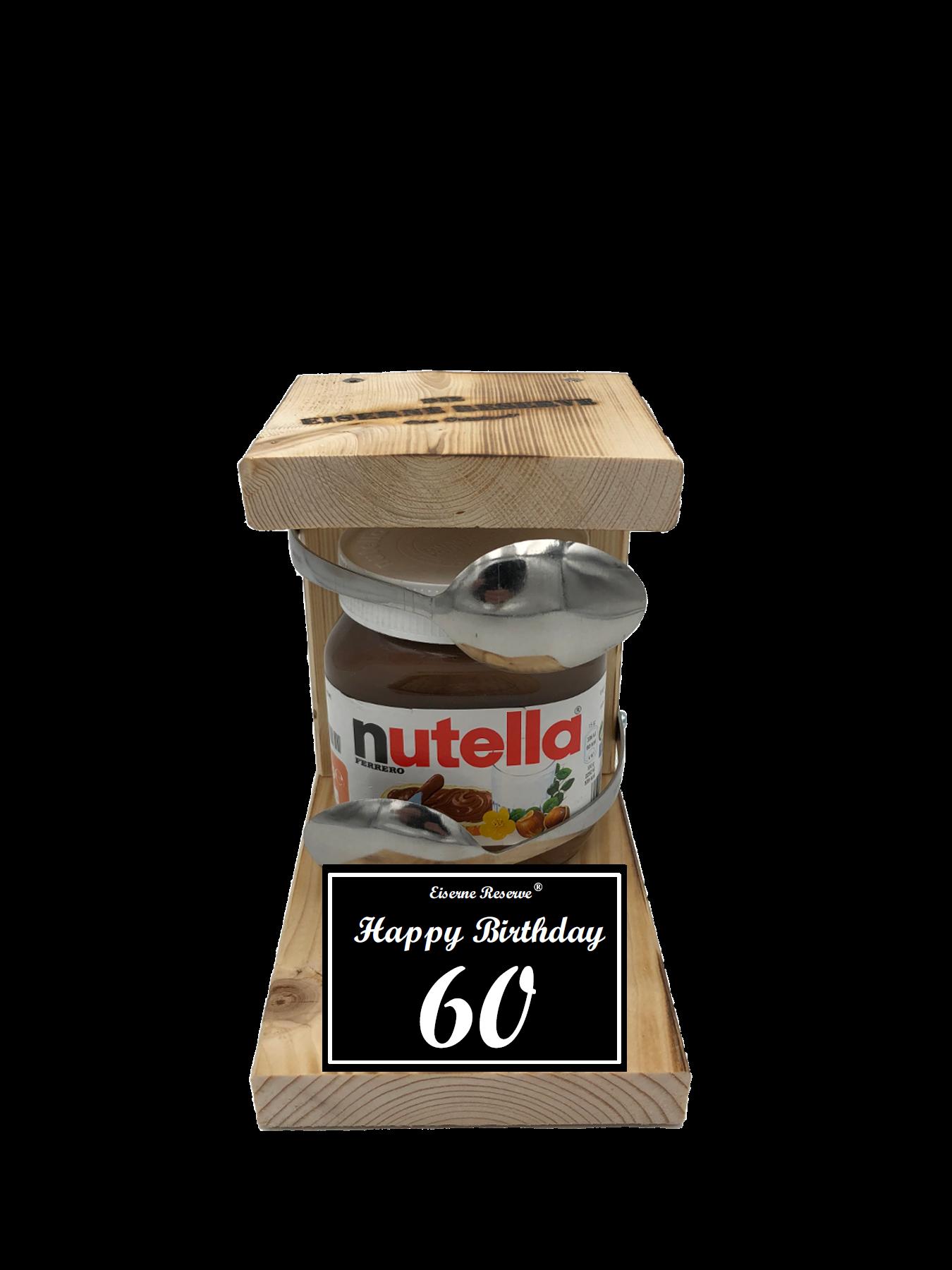 60 Happy Birthday Löffel Nutella Geschenk - Die Nutella Geschenkidee