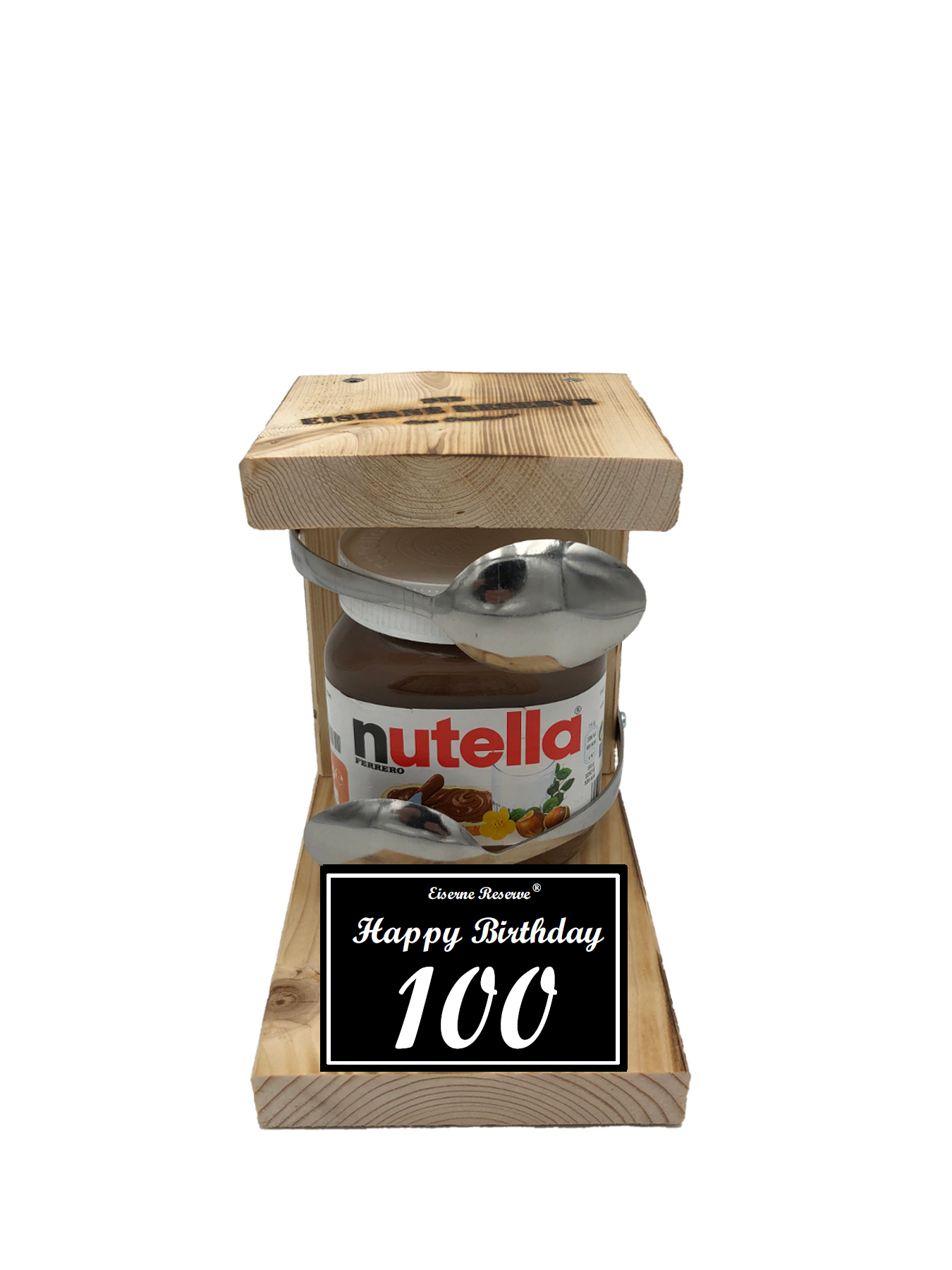 100 Happy Birthday Löffel Nutella Geschenk - Die Nutella Geschenkidee
