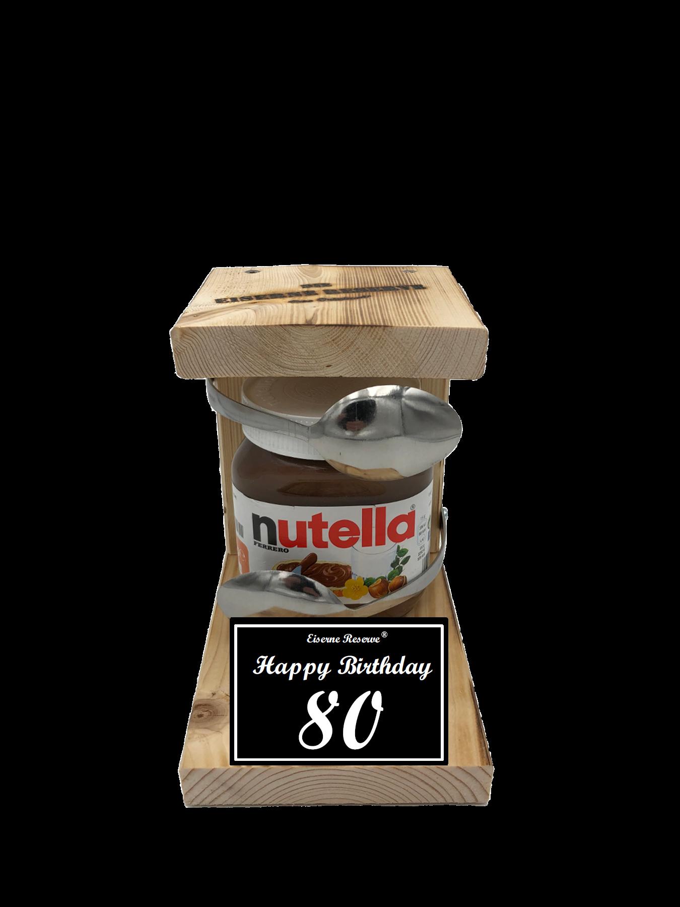 80 Happy Birthday Löffel Nutella Geschenk - Die Nutella Geschenkidee
