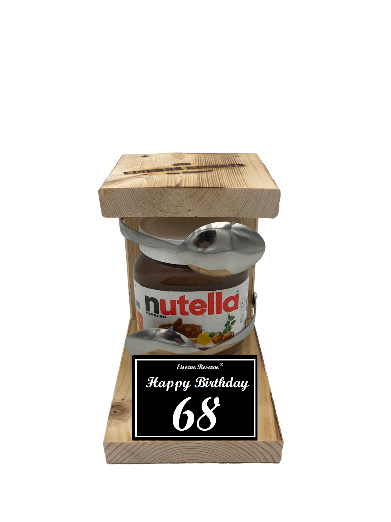 68 Happy Birthday Löffel Nutella Geschenk - Die Nutella Geschenkidee