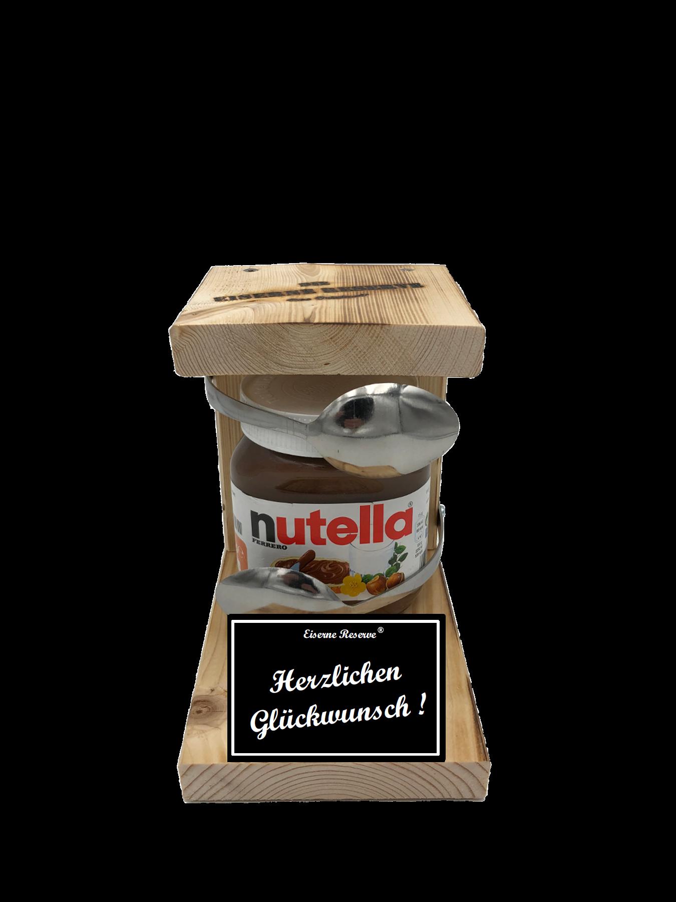 Herzlichen Glückwunsch Löffel Nutella Geschenk - Die Nutella Geschenkidee