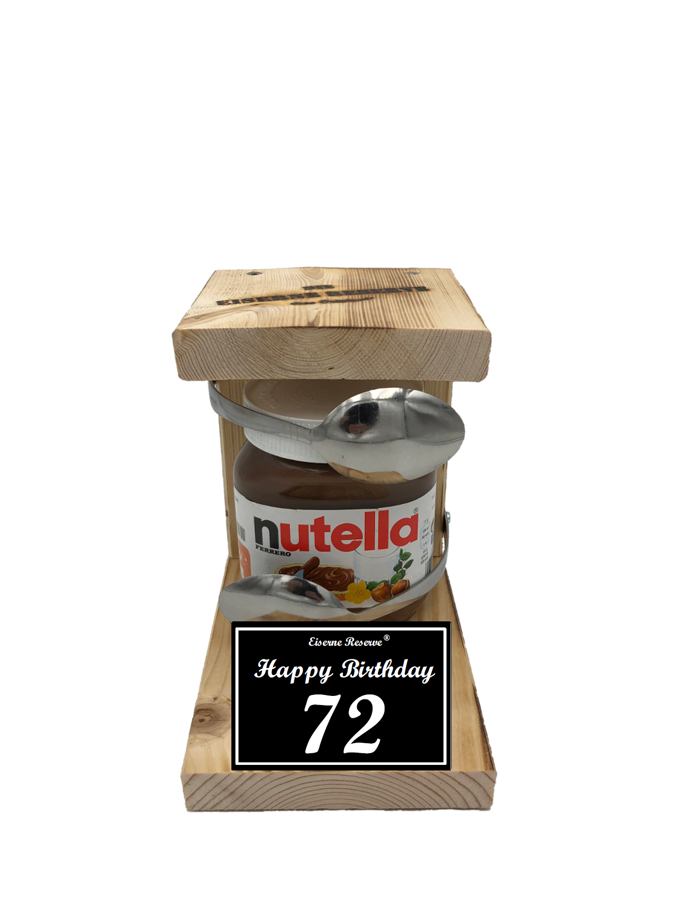 72 Happy Birthday Löffel Nutella Geschenk - Die Nutella Geschenkidee
