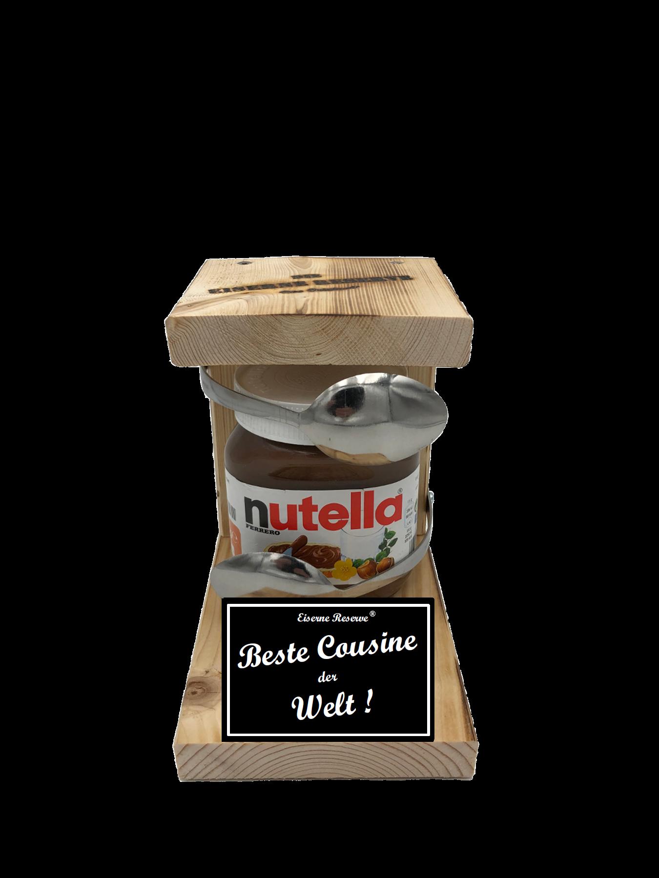 Beste Cousine der Welt Löffel Nutella Geschenk - Die Nutella Geschenkidee