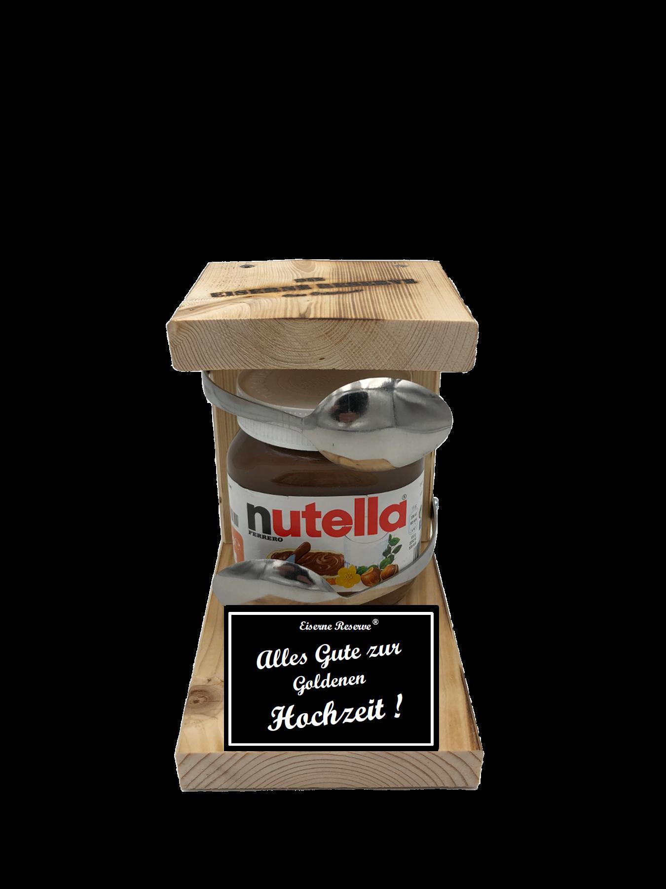 Alles Gute zur Goldenen Hochzeit Löffel Nutella Geschenk - Die Nutella Geschenkidee