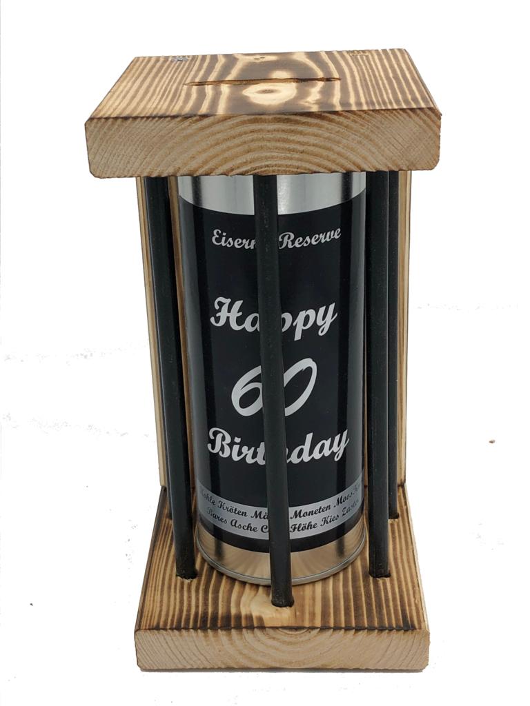 Happy Birthday 60 Eiserne Reserve ® Black Edition Spardose