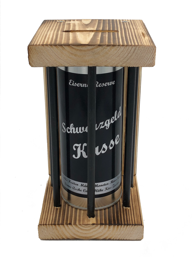 Schwarzgeld Kasse Eiserne Reserve ® Black Edition Spardose