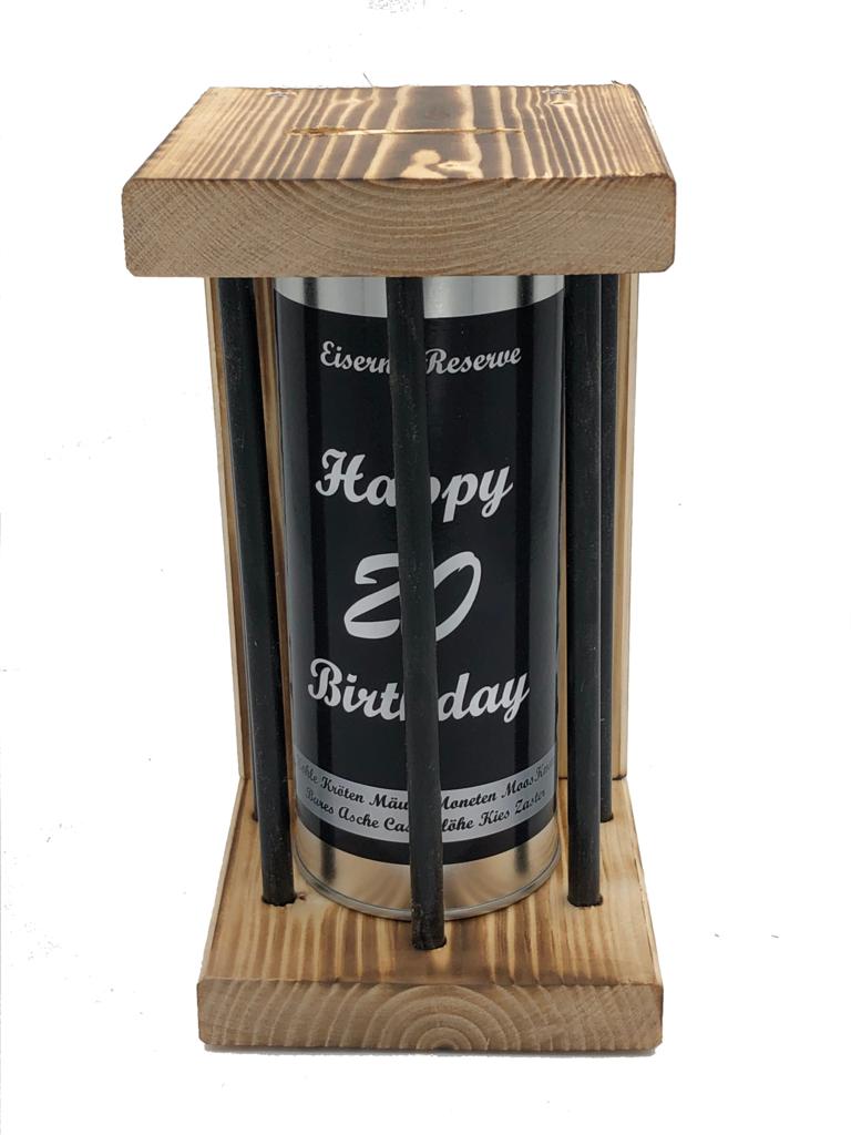 Happy Birthday 20 Eiserne Reserve ® Black Edition Spardose