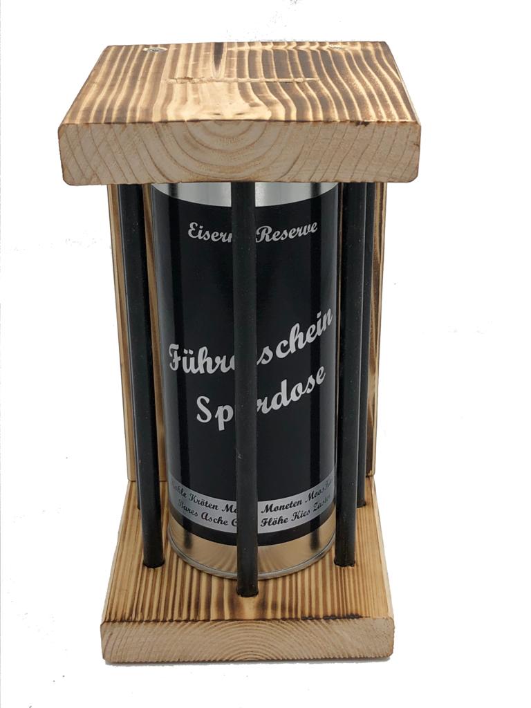 Führerschein Spardose Eiserne Reserve ® Black Edition Spardose
