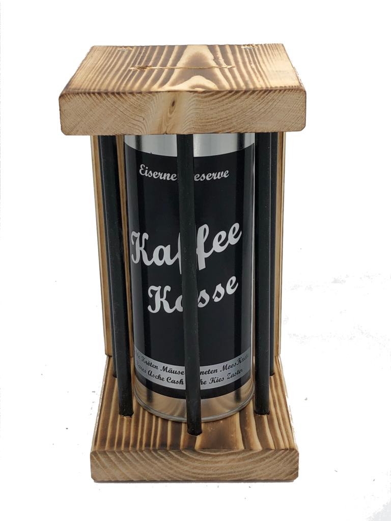 Kaffee Kasse Eiserne Reserve ® Black Edition Spardose