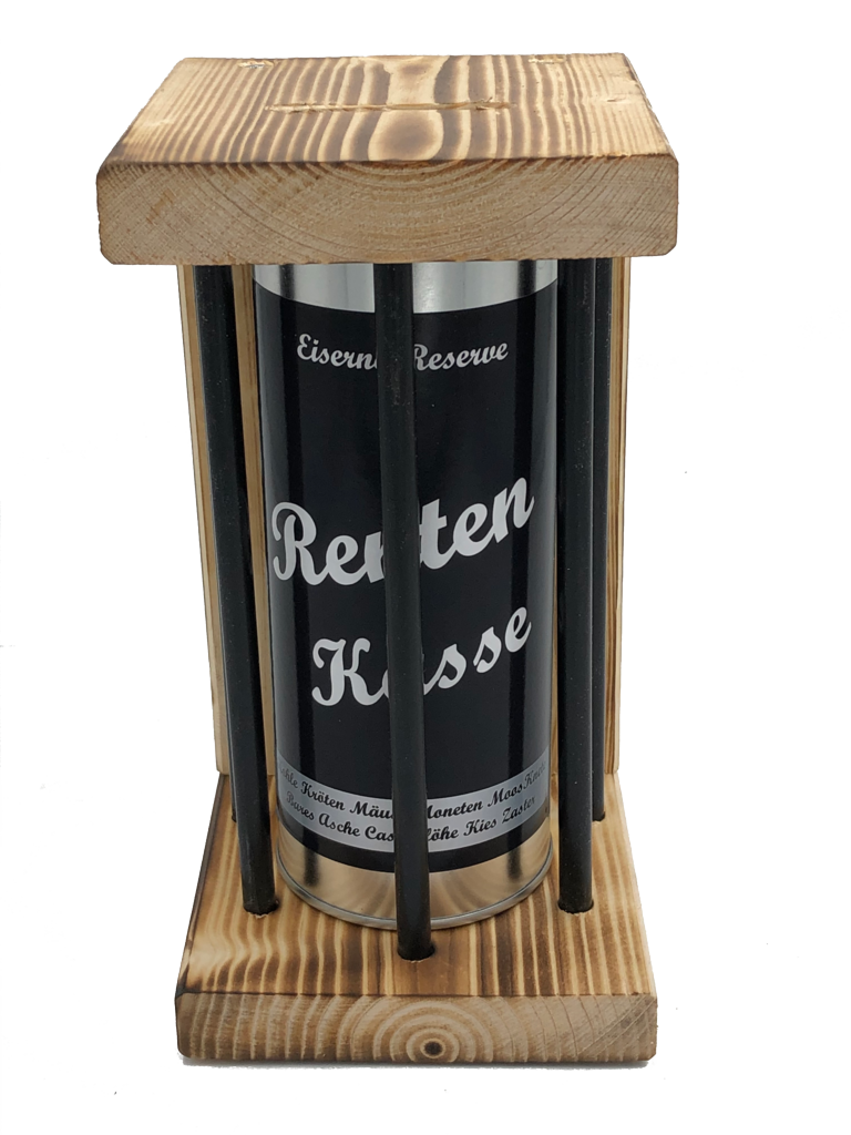 Renten Kasse Eiserne Reserve ® Black Edition Spardose