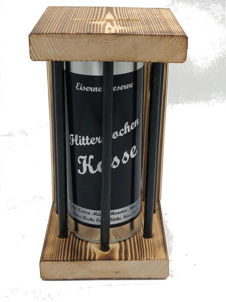 Flitterwochen Kasse Eiserne Reserve ® Black Edition Spardose