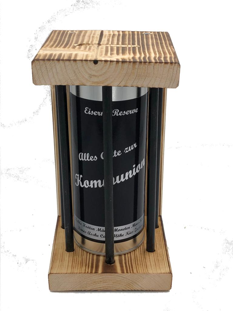 Alles Gute zur Kommunion Eiserne Reserve ® Black Edition Spardose