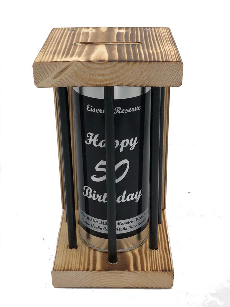Happy Birthday 50 Eiserne Reserve ® Black Edition Spardose